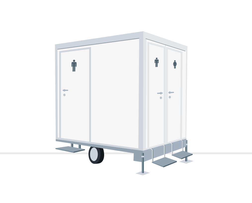 Miet WC Toilettenwagen Plus